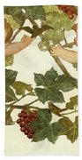 Putti Frolicking In A Vineyard Beach Towel