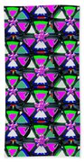 Pyramid Dome Triangle Purple Elegant Digital Graphic Signature   Art  Navinjoshi  Artist Created Ima Beach Towel