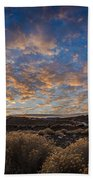 Pyramid Lake Sunset Beach Towel