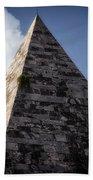 Pyramid Of Rome Beach Towel