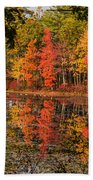 Quabbin Reservoir Fall Foliage Beach Towel