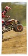 Quad Racer Jumping Beach Towel
