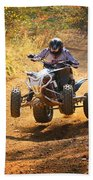 Quad Rider  Beach Towel