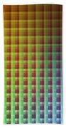 Quadrants Of Color Beach Towel