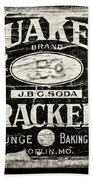 Quaker Crackers Rustic Sign For Kitchen In Black And White Beach Towel