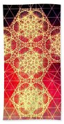 Quantum Cross Hand Drawn Beach Towel