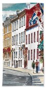 Quebec Old City Canada Beach Towel by Anthony Butera