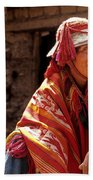 Quechua Man Sacred Valley Peru Beach Towel