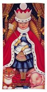 Queen Alice, 2008 Oil And Tempera On Panel Beach Towel