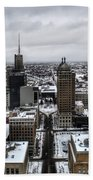 Queen City Winter Wonderland After The Storm Series 001 Beach Towel