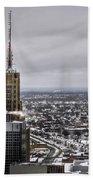 Queen City Winter Wonderland After The Storm Series 0012 Beach Towel