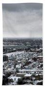 Queen City Winter Wonderland After The Storm Series 002 Beach Towel