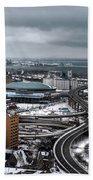 Queen City Winter Wonderland After The Storm Series 006 Beach Towel