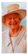 Queen Elizabeth II Portrait 100-028 Beach Towel