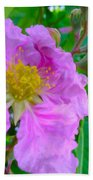 Queen Flower Or Giant Crepe Myrtle Flower Beach Towel by Lanjee Chee