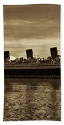 Queen Mary In Sepia Beach Towel