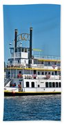 Queen Of Seattle Vintage Paddle Boat Art Prints Beach Towel