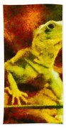 Queen Of The Reptiles Beach Towel