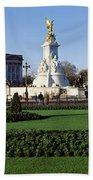 Queen Victoria Memorial At Buckingham Beach Towel