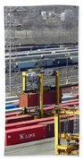 Queensgate Yard Cincinnati Ohio Beach Towel