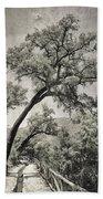 Quercus Suber Retro Beach Towel