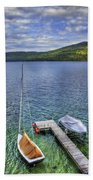 Quiet Jetty Beach Towel by Evelina Kremsdorf