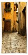 Quiet Lane In Tuscany 1 Beach Towel
