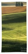 Quiet Morning In The Palouse  Beach Towel