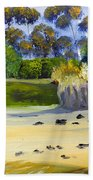 Quiet Sand By The Creek Beach Towel