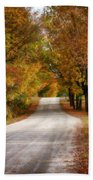 Quiet Vermont Backroad Beach Towel