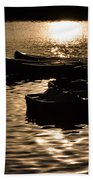 Quiet Waters At Sunset Beach Towel