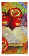 quilted Apples Beach Towel