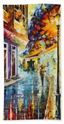 Quito Ecuador - Palette Knife Oil Painting On Canvas By Leonid Afremov Beach Towel