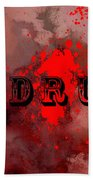 R E D R U M - Featured In Visions Of The Night Group Beach Towel