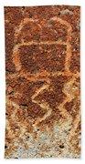 Shaman Petroglyph C Beach Towel