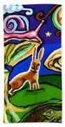 Rabbits At Night Beach Towel