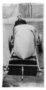 Racecar Driver, C1906 Beach Towel