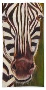 Racer, Zebra Beach Towel