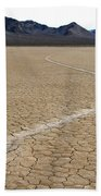 Racetrack Sailing Rocks Death Valley National Park Beach Towel