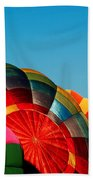 Racing Balloons Beach Towel by Bill Gallagher