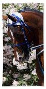 Racing Horse  Beach Towel