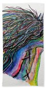 Racing The Wind ... A Story Painting Beach Towel