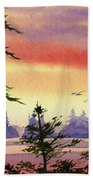 Radiant Coast Beach Towel
