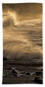 Radiant Sunrise Surf Beach Towel