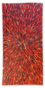 Radiation Red  Beach Towel