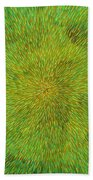 Radiation With Green Yellow And Orange  Beach Towel