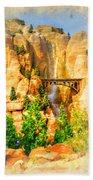 Radiator Springs Waterfall Beach Towel