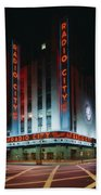 Radio City Music Hall In New York City Beach Towel