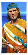 Rafael Nadal Beach Towel by Paul Meijering