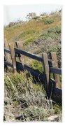 Rail Fence Black Beach Towel by Barbara Snyder